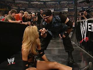 WWE Judgement Day 2002 - Bubba Dudley mocks Stacy Kiebler