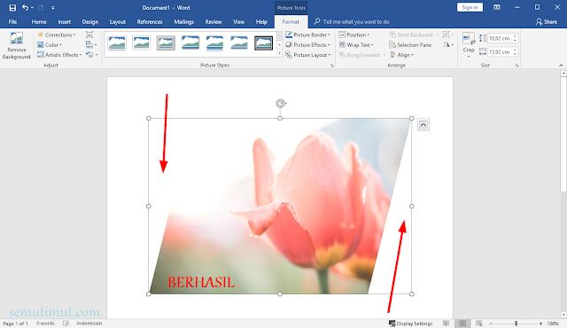 cara memotong gambar pada microsoft word
