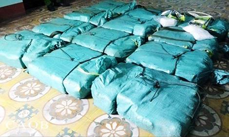 Tang vật hơn 300 kg ma túy đá