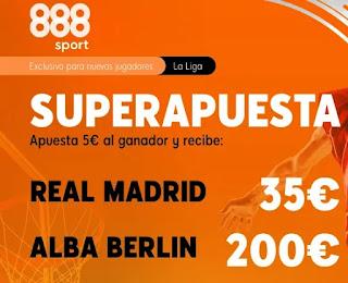 888sport superapuesta Real Madrid vs Alba Berlin 22 diciembre 2020