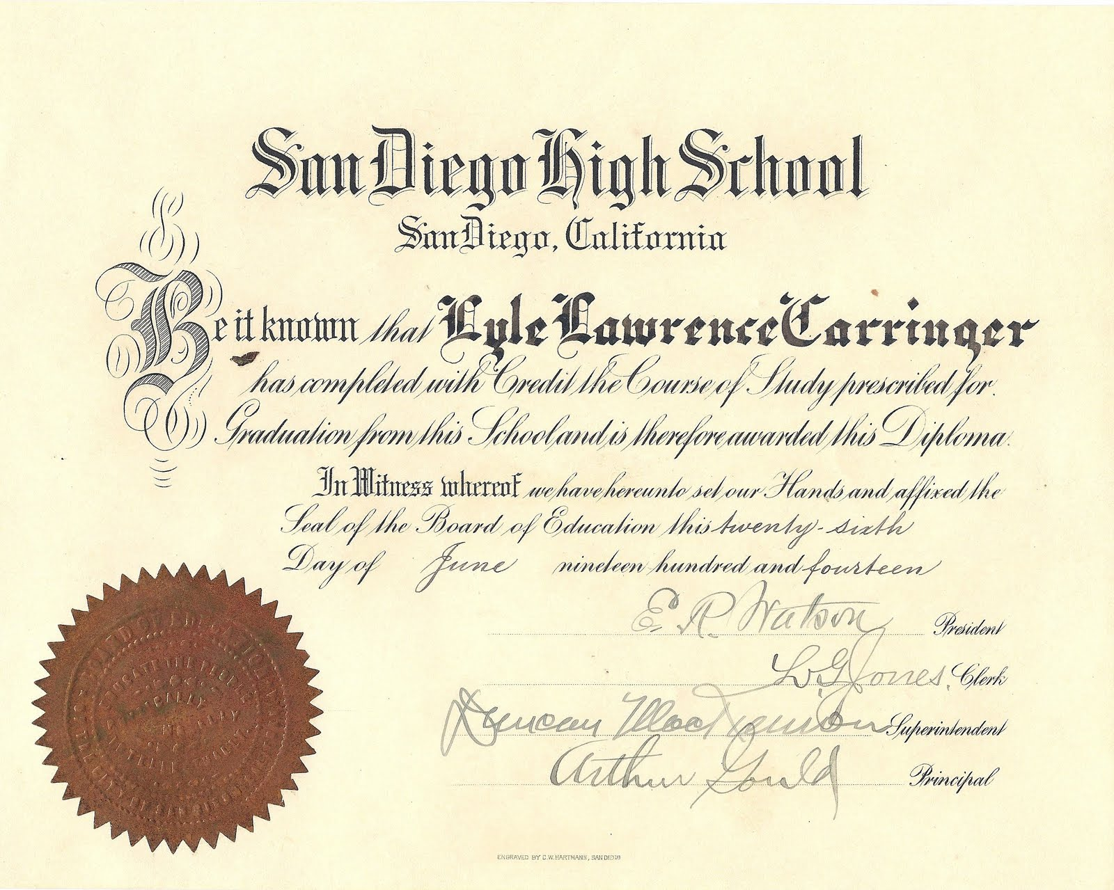 Ontario High School Diploma Template