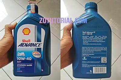 Ciri-Ciri Oli Pelumas Shell Advance AX7 yang Original (Asli)