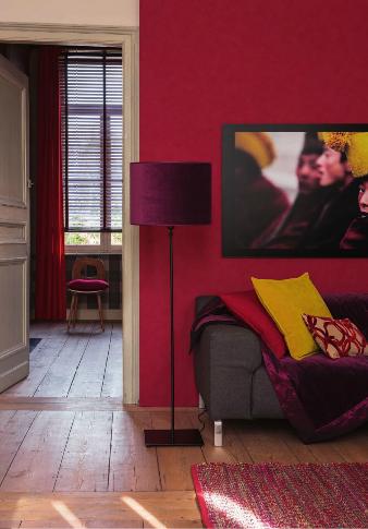 Comment coordonner les 3 couleurs de l 39 hiver episode 2 - Mur rouge salon ...