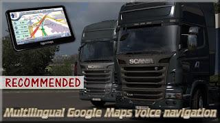 ets 2 multilingual google maps voice navigation