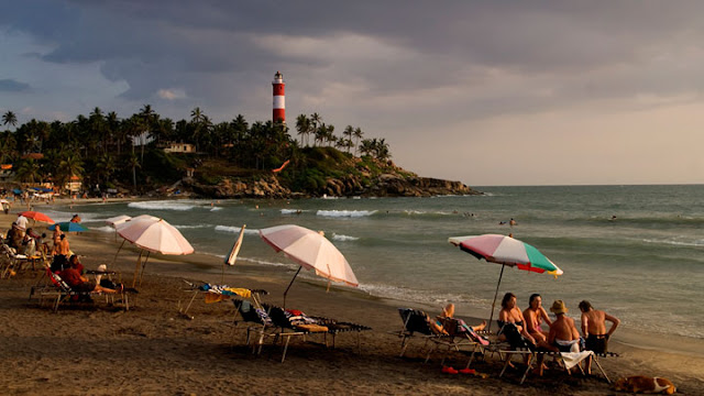 Evening scenery from Kovalam beach