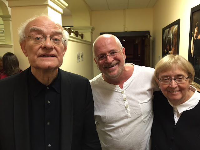 Director, Pierre, recently met up with old friends John Rutter and Lydia Adams at Music and Beyond