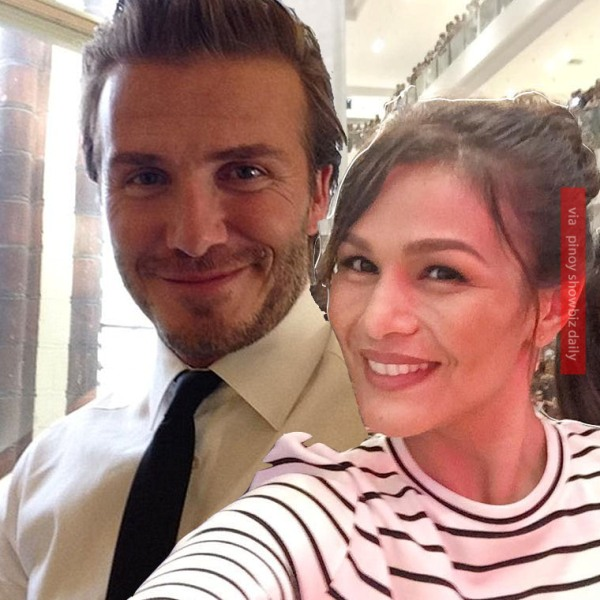 644aa1ac Iza Calzado shares her chance encounter with David Beckham