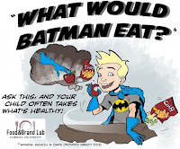 Picture of Batman making healthy food choices.