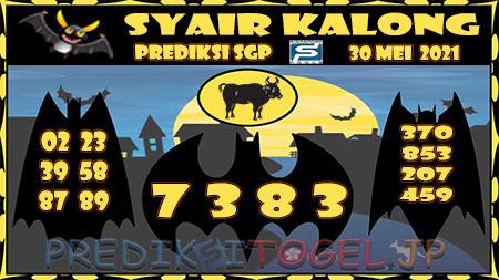 Syair Kalong SGP Minggu 30 Mei 2021