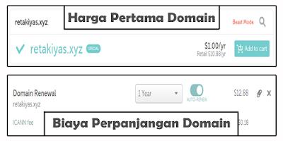 Biaya Perpanjangan Domain di Namecheap