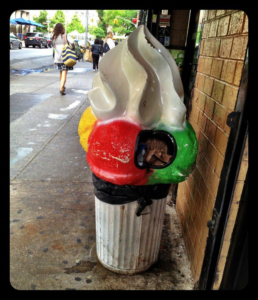 New York City Ice Cream Cone Trash Can Tasty Trash  Snaxtime