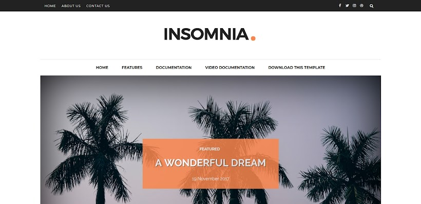 Insomnia Free Blogger Template