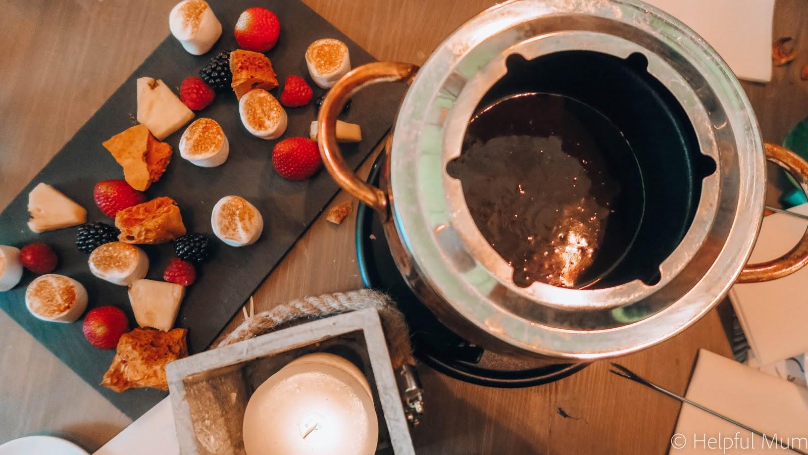 Alexander's chocolate fondue