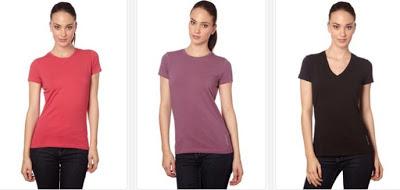 Camisetas lisas para mujer