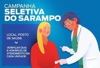 Postos de Saúde tem horários específicos para a Campanha de Vacinação contra o Sarampo