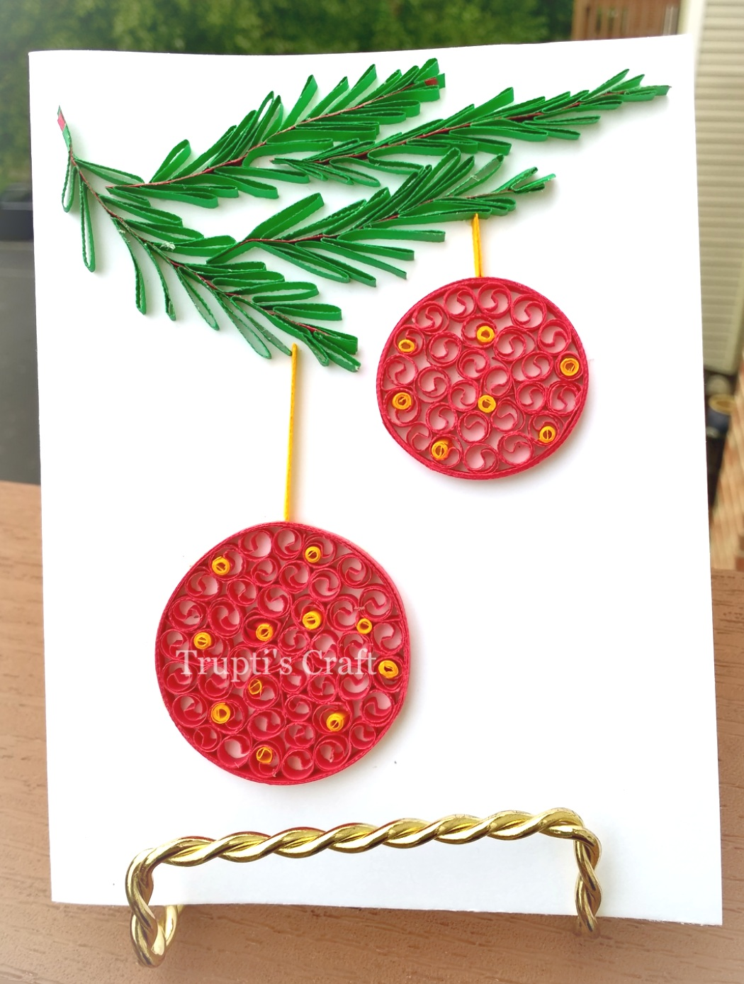 Trupti S Craft Paper Quilling Christmas Ornament Card Wall Frame