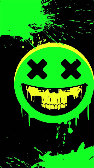 18 Eyes Skull Art, Dark Glow Skull, Neon Glow Skull HD Wallpapers 4K for iPhone and Android