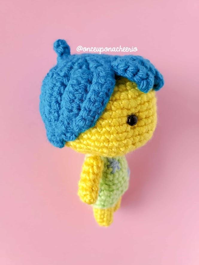 Joy Amigurumi Doll Crochet Pattern from Pixar's Inside Out