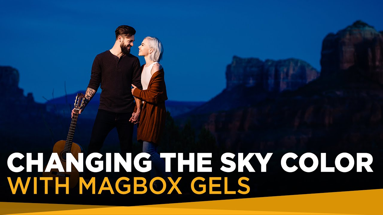 Portraits: Using GELS and Strobes to change the Sky Color