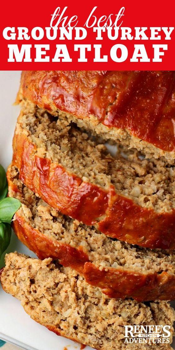 Best Ground Turkey Meatloaf