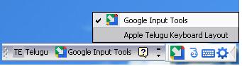 Type in Telugu Using Google Input Tools and Apple Telugu Keyboard Layout 3