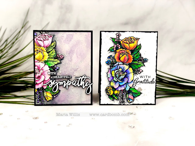#cardbomb, maria willis, #honeybeestamps, #stamp, #ink, #paper, #papercraft, #craft, #create, #art, #diy, #color, #watercolor, #flower, #birthday,