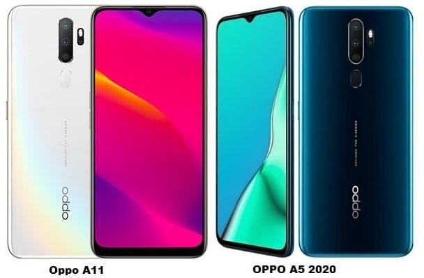 Oppo A11 Vs Oppo A5 2020 Specs Comparison