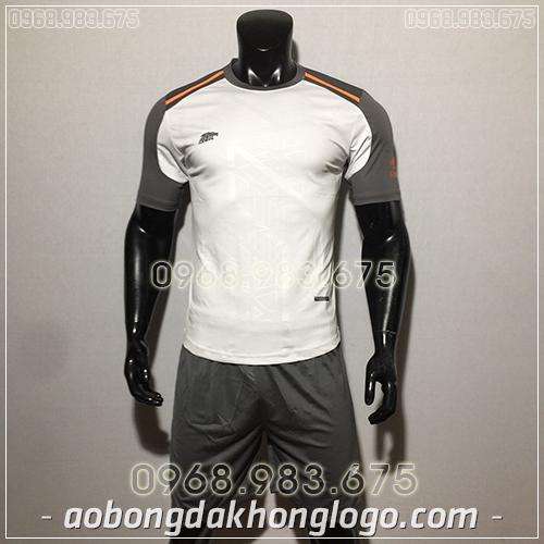 Áo bóng đá ko logo Eureka Raki màu trắng
