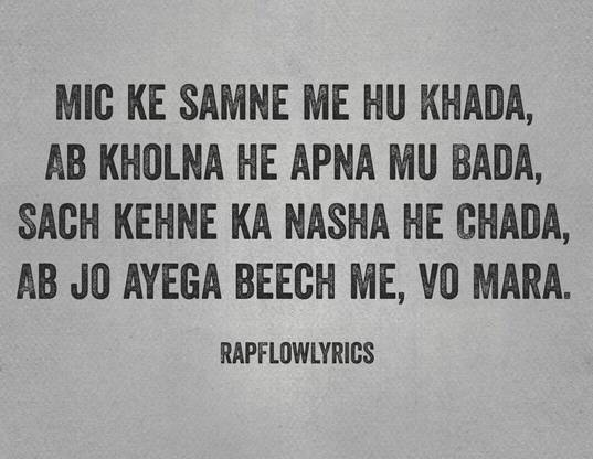 Hindi Rap Quotes - Rap Flow Lyrics | Motivation | Haters