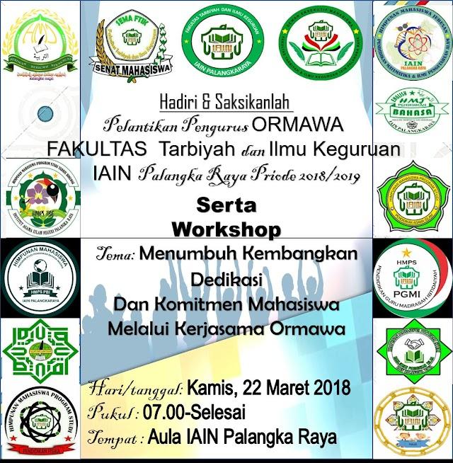 Pelantikan ORMAWA FTIK  Periode 2018/2019