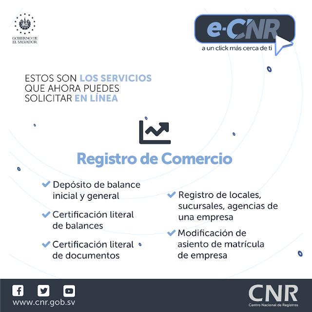 News| Nuevos Servicios en la Plataforma virtual del eCNR  - Servicios en Linea