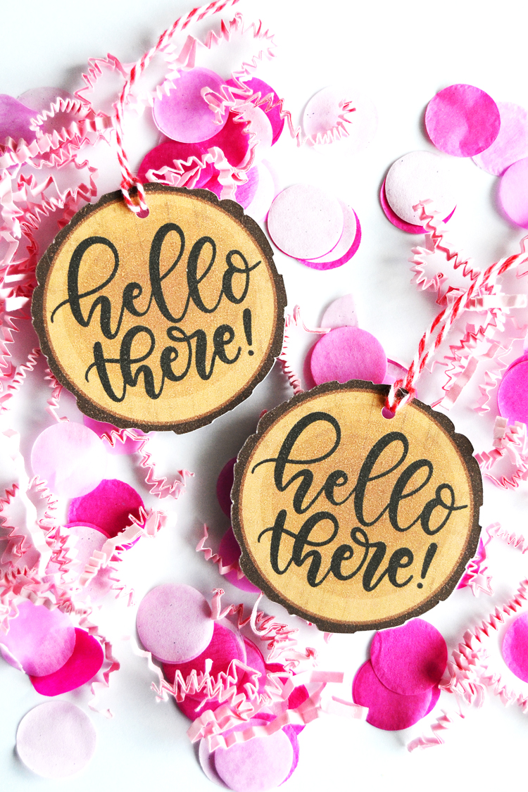 free printable hello tags