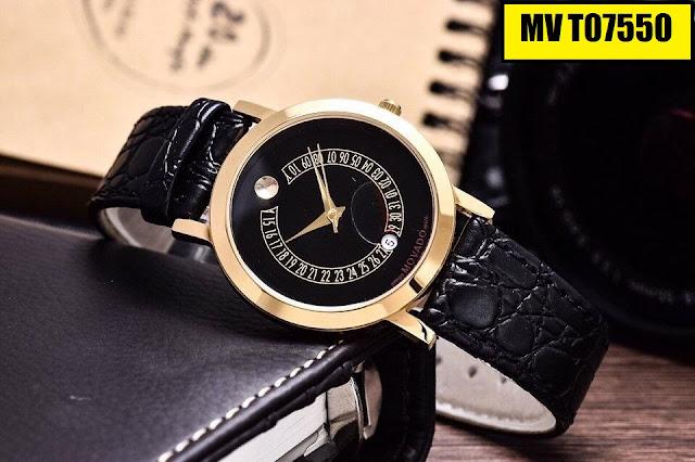 Đồng hồ dây da Movado T07550