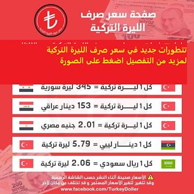 سعر صرف الليرة التركية الخميس