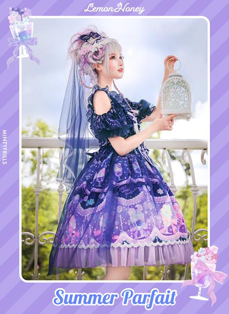 Summer Parfait - Lemon Honey kawaii cute sweet lolita print dress