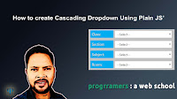 JavaScript How To : How to create Cascading Dropdown Using Plain JS - progrramers