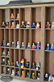 Simple and Decorative Lego Storage Using a Vintage Printers Tray| One Mile Home Style