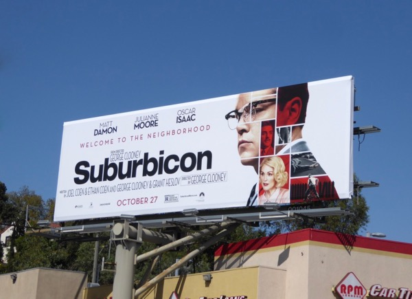 Matt Damon Suburbicon billboard