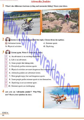 8. Sınıf İngilizce Tutku Yayınları Ders Kitabı Cevapları Sayfa 66