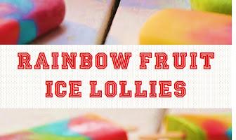 Rainbow Fruit Ice Lollies