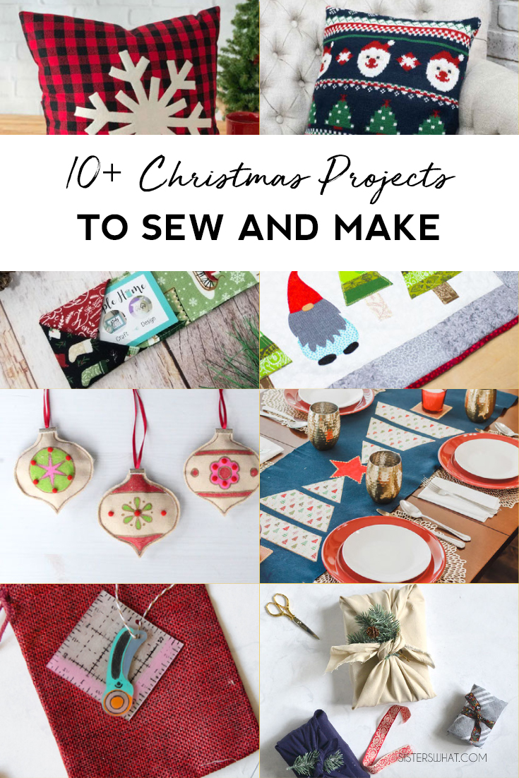 beginner Christmas projects to sew and make