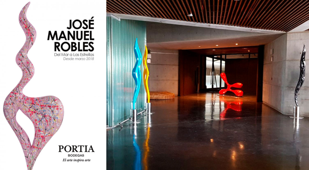 arte en Bodegas Portia: exposición de Manuel Robles