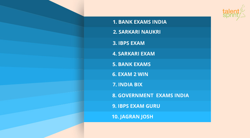 Top 10 Bank and Government Exam Sites