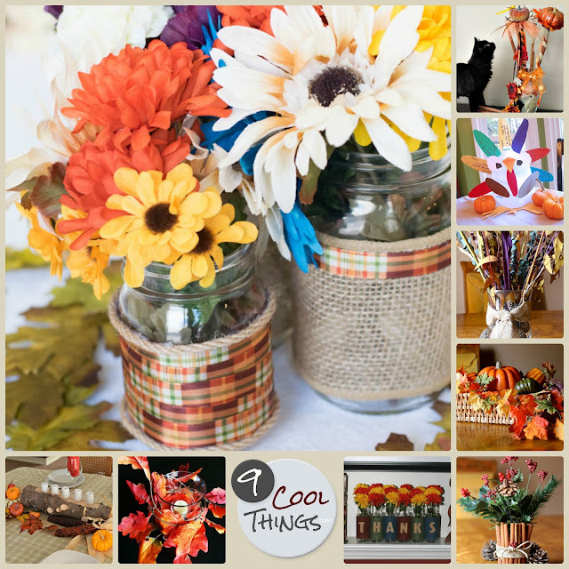 DIY fall and Thanksgiving centerpieces for your table, mantle, or shelf.  |  9CoolThings.com