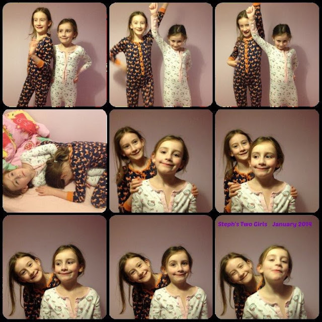 Collage of Steph's Two Girls together in January 2014