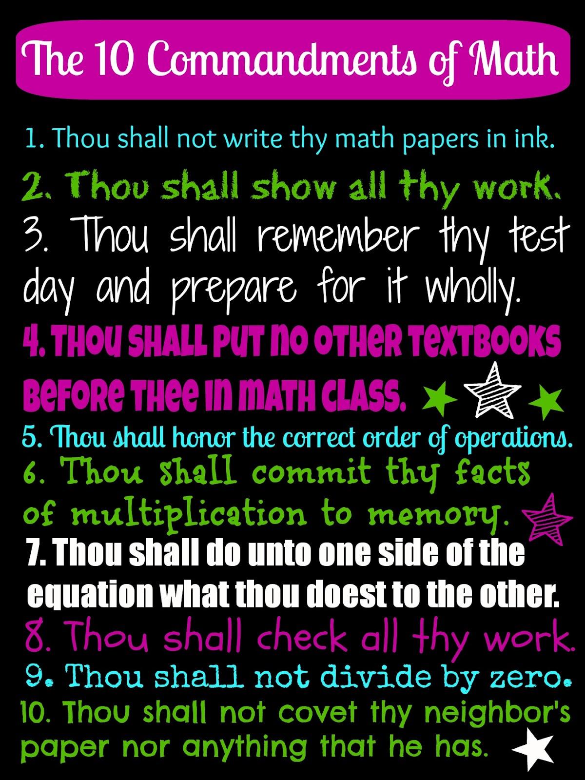 My 10 Must Have Rv Gadgets: Live. Love. Math.: Ten Commandments Of Math