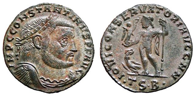 Moneda a nombre de Constantino I