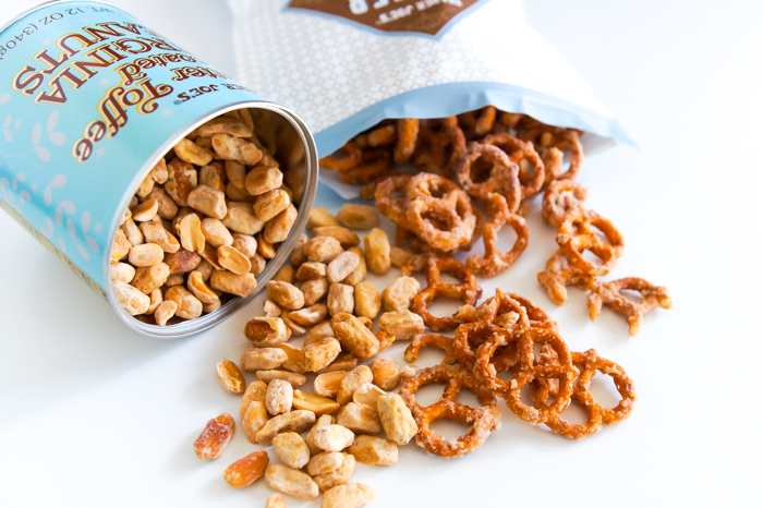 Trader Joe's Butter Toffee Pretzels and Virginia Peanuts review #traderjoesreview