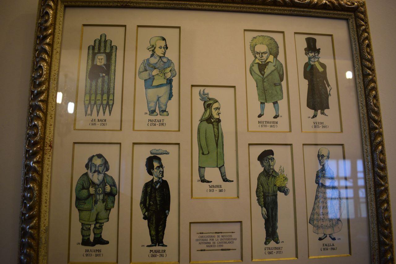 ilustrações a maos de compositores famosos