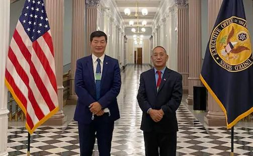 Tibetan leader visits the White House for the first time